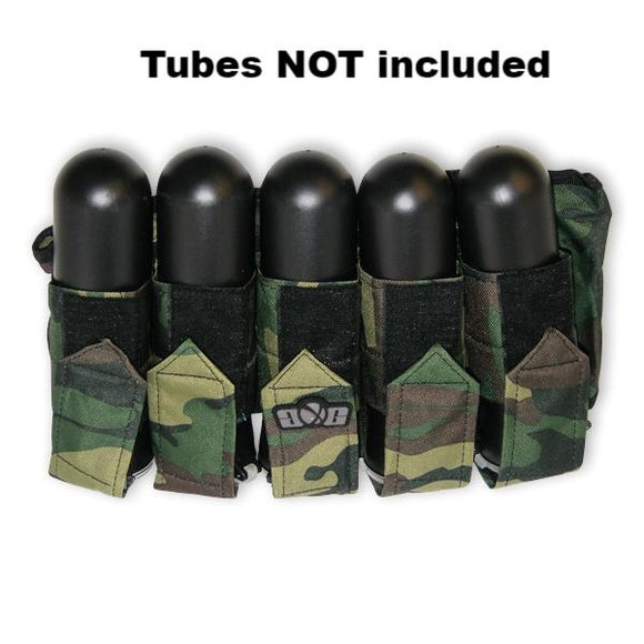 5 Paintball Pod Carrier 100 or 140 Tubes Slam Harness Pack Ball Hauler Camo