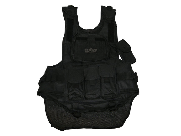 GXG Mil Sim Paintball Tactical Scenario Woodsball VEST Black