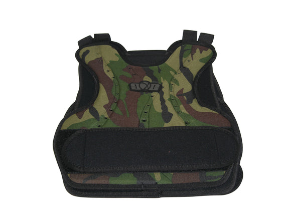 Paintball Airsoft GXG Padded Chest Protector Guard Body Armor Vest Pad Woodland Camo