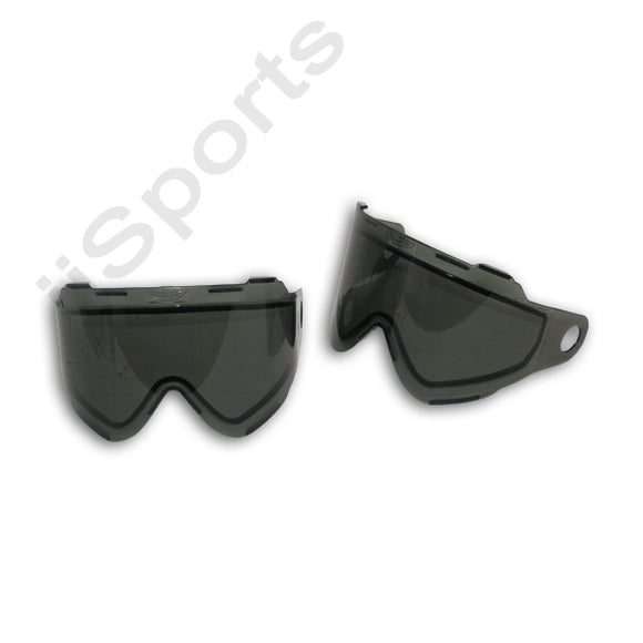 2 JT Axiom FX 10 Thermal Lens SMOKE Goggles Replacement Paintball Dual Pane