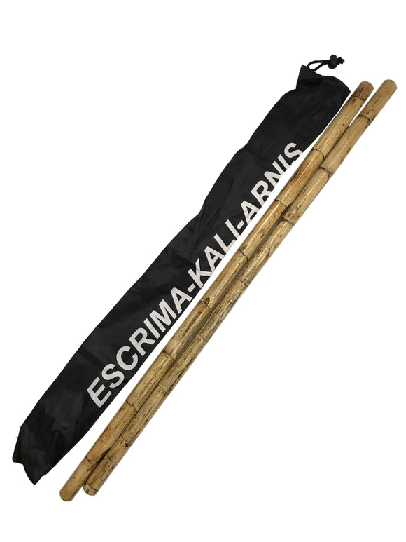 2 Filipino Escrima Multi-Node Rattan Sticks Set + Blitzing DVD