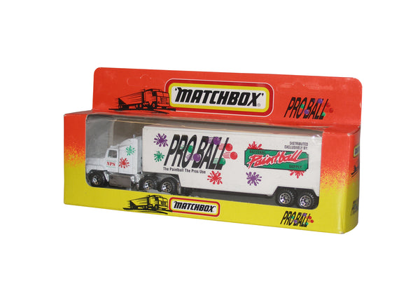 PROBALL Paintball Matchbox Toy Collectible Semi Tractor Trailer Ford Aeromax NIB