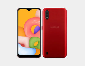"Samsung Galaxy A01 A015M/DS 32GB/2GB 5.7"" Factory Unlocked - Red"
