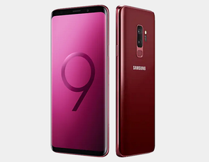 Samsung Galaxy S9+ 64GB 6GB DS G965F Factory Unlocked (Burgundy Red)- MyWorldPhone.com