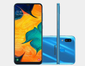 Samsung Galaxy A30 A305G/DS Dual Camera 64GB/4GB Factory Unlocked - Blue- MyWorldPhone.com