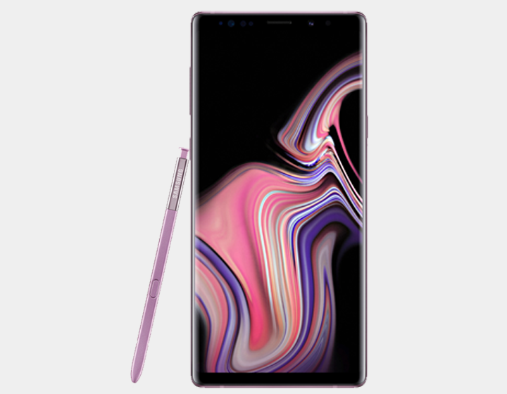 Samsung Note 9 N960F/DS Dual SIM 128GB/6GB GSM Factory Unlocked - Lavender Purple