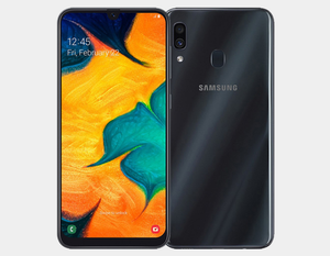 Samsung Galaxy A30 A305G/DS Dual Camera 32GB/3GB Factory Unlocked - Black- MyWorldPhone.com