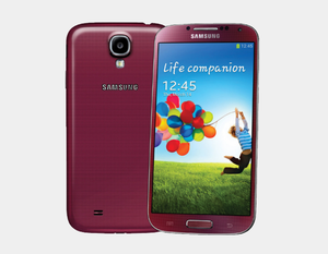 "Samsung Galaxy S4 (2013) GT-I9500 16GB/2GB 5.0"" GSM Factory Unlocked - Red Aurora- MyWorldPhone.com"