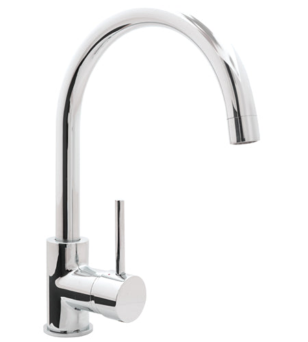 Rondo Sink Mixer Curved Outlet