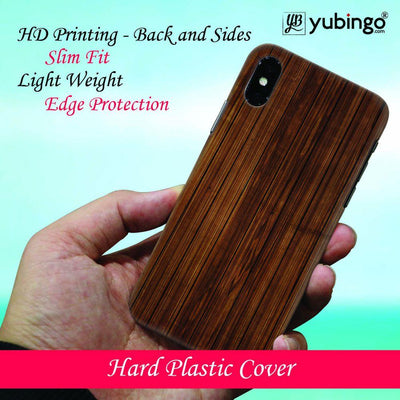 Wooden Pattern Back Cover for Apple iPhone X-Image4