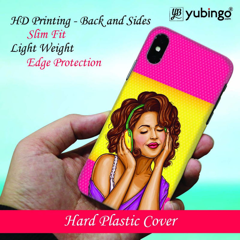 Music Girl Back Cover for Oppo F11 Pro