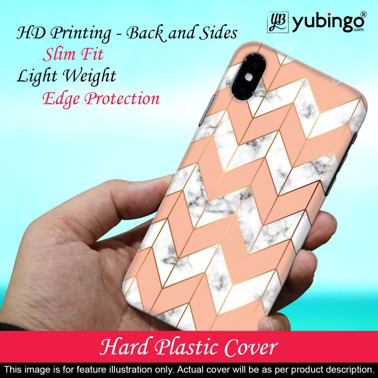 Printed Marble Pattern Back Cover for Realme X