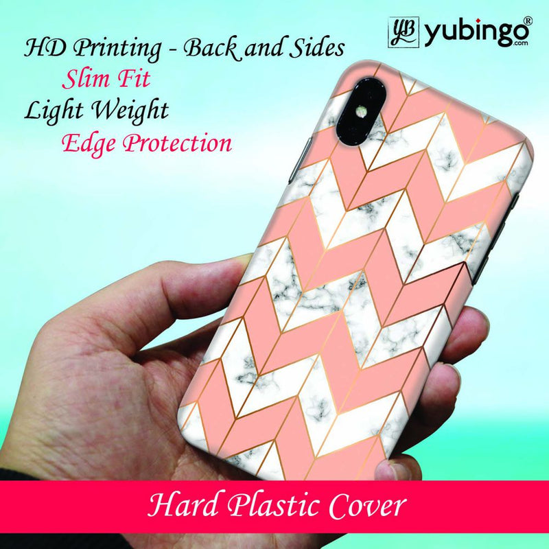 Printed Marble Pattern Back Cover for Oppo F9 Pro