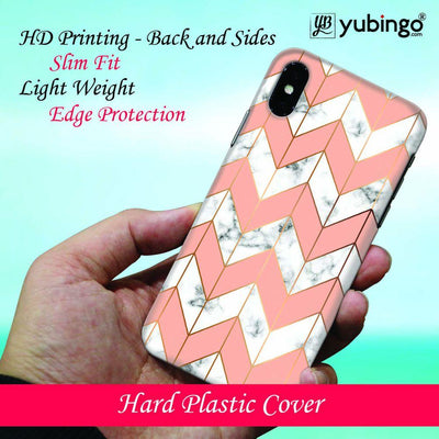 Printed Marble Pattern Back Cover for Apple iPhone X-Image3