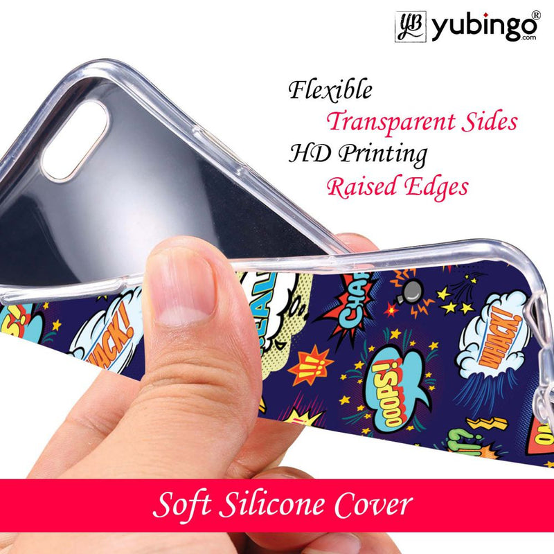 Comic Pattern Back Cover for Coolpad Mega 5M