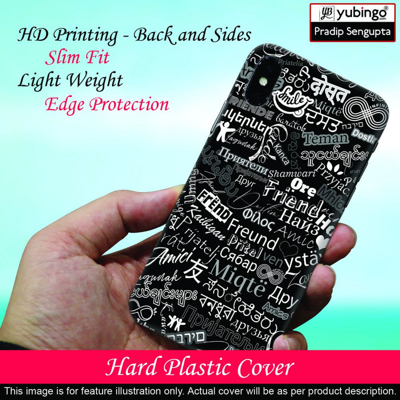 Friend in All Languages Back Cover for Micromax A350 Canvas Knight