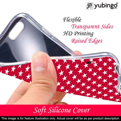 Red Stars Back Cover for Lava Z41-Image2