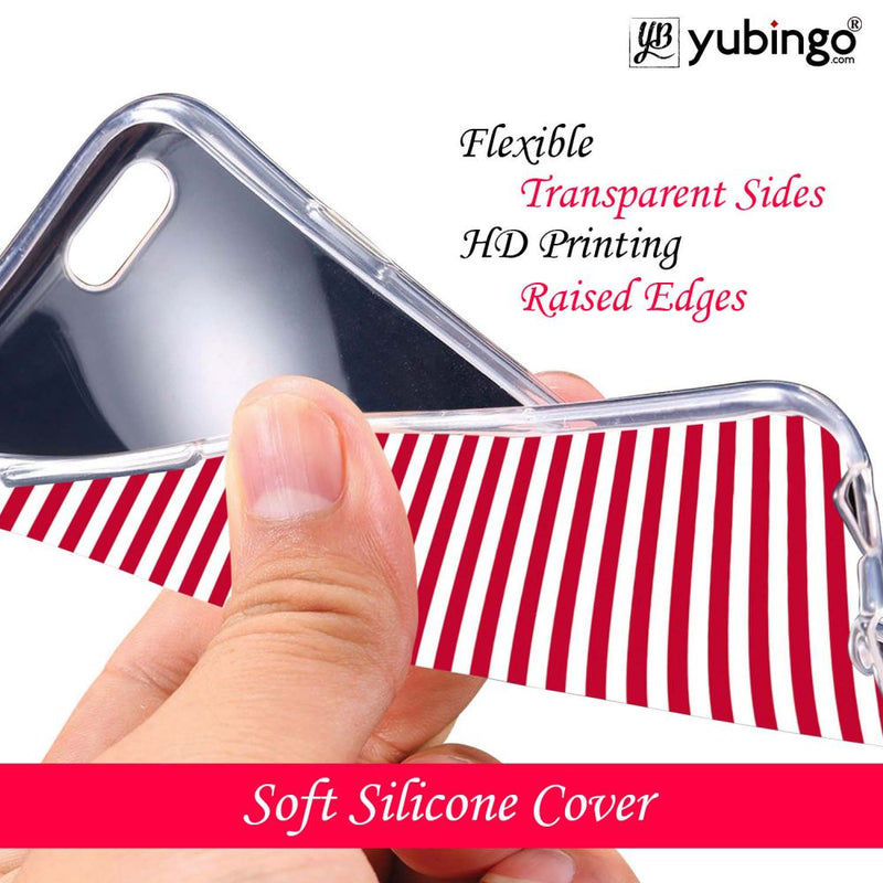 Red Stripes Back Cover for Oppo Realme 2-Image3