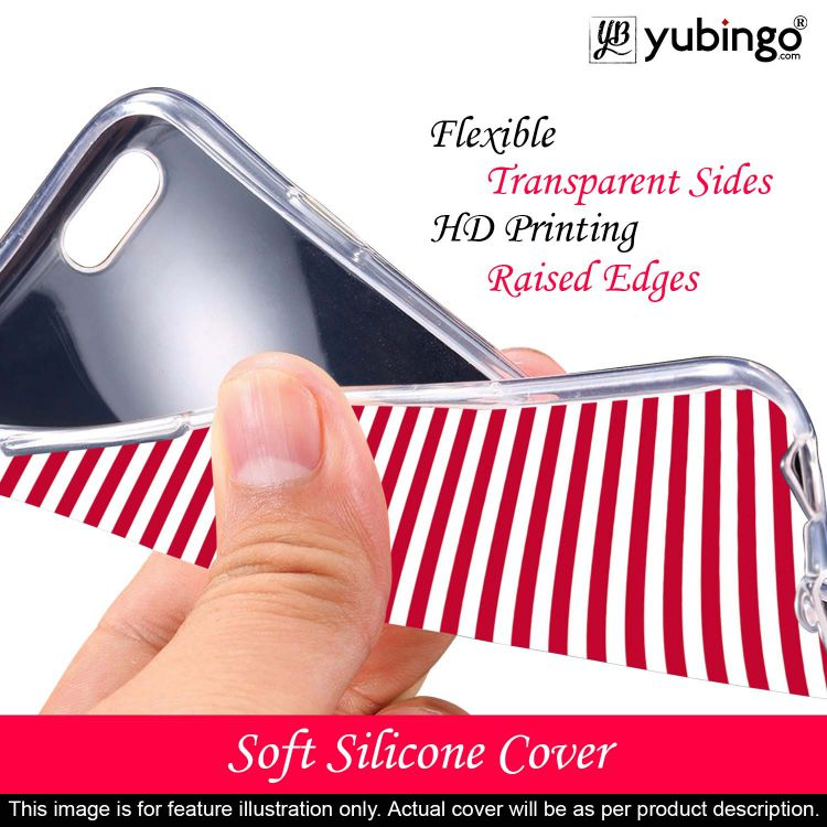 Red Stripes Back Cover for Samsung Galaxy A60