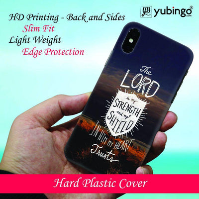 In Lord My Heart Trusts Back Cover for Apple iPhone X
