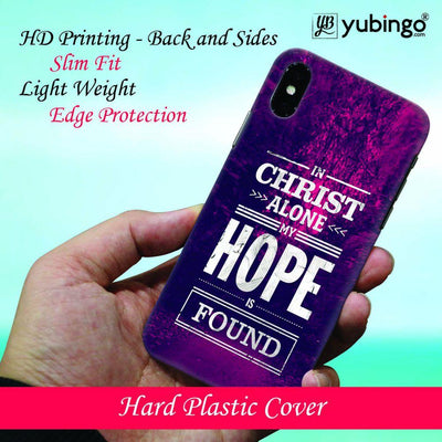 In Christ I Find Hope Back Cover for Apple iPhone X