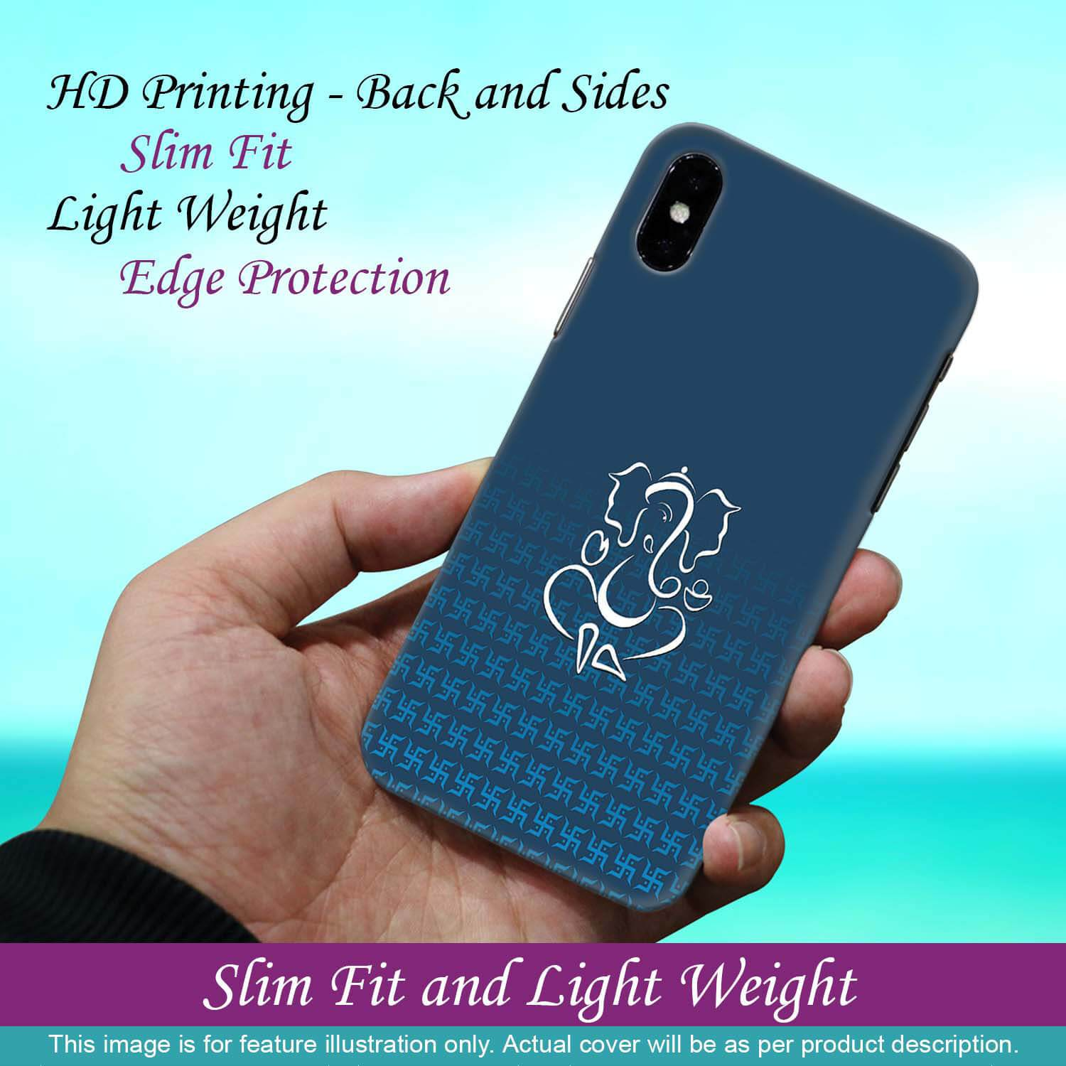 Phone Cover for Apple iPhone X - Swastik and Ganesha