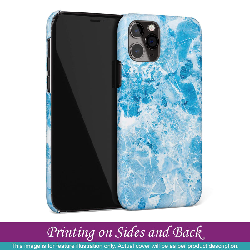 Cover for Apple iPhone 8 Plus - Precious Blue Marble