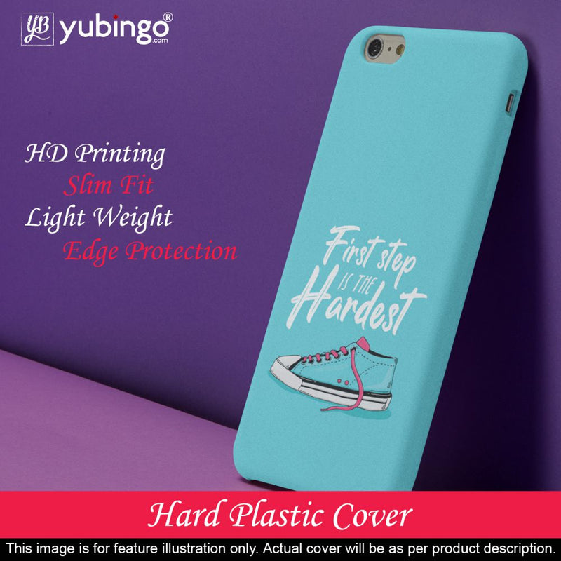 First Step is Hardest Back Cover for Micromax A350 Canvas Knight