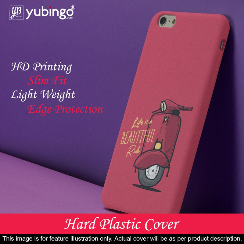 Life is Beautiful Ride Back Cover for Micromax A350 Canvas Knight