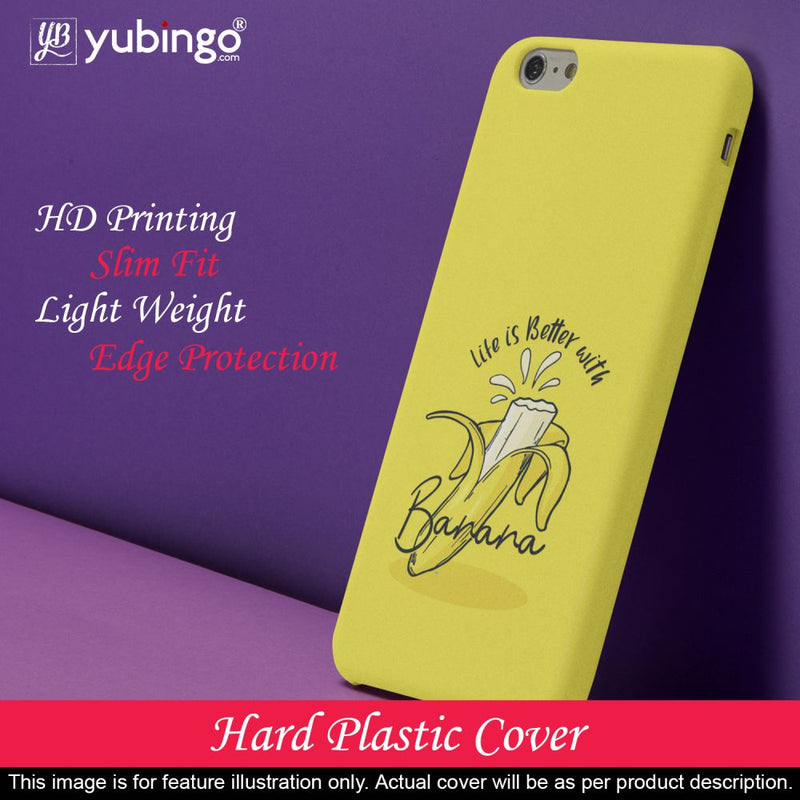 Life is Better with Banana Back Cover for Micromax A350 Canvas Knight