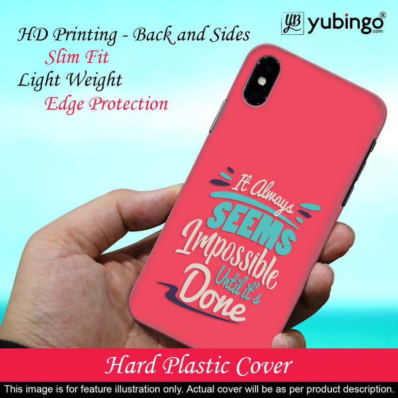 Impossible Till Done Back Cover for Huawei Y6 Prime (2019)