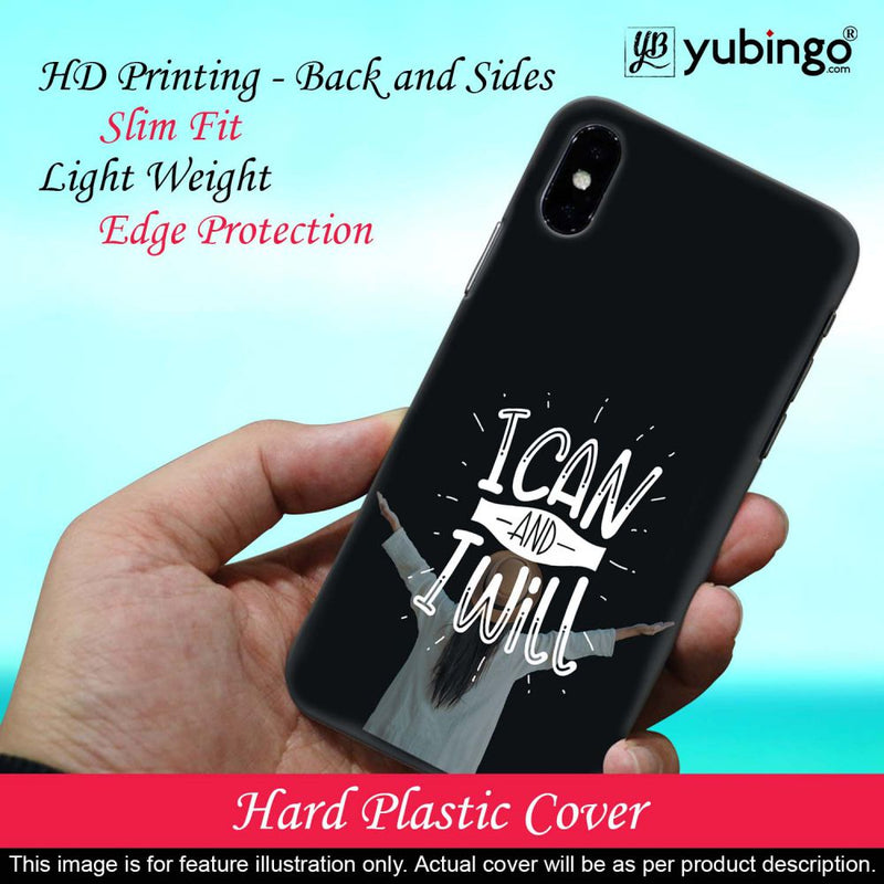 I Can and I Will Back Cover for Apple iPhone X