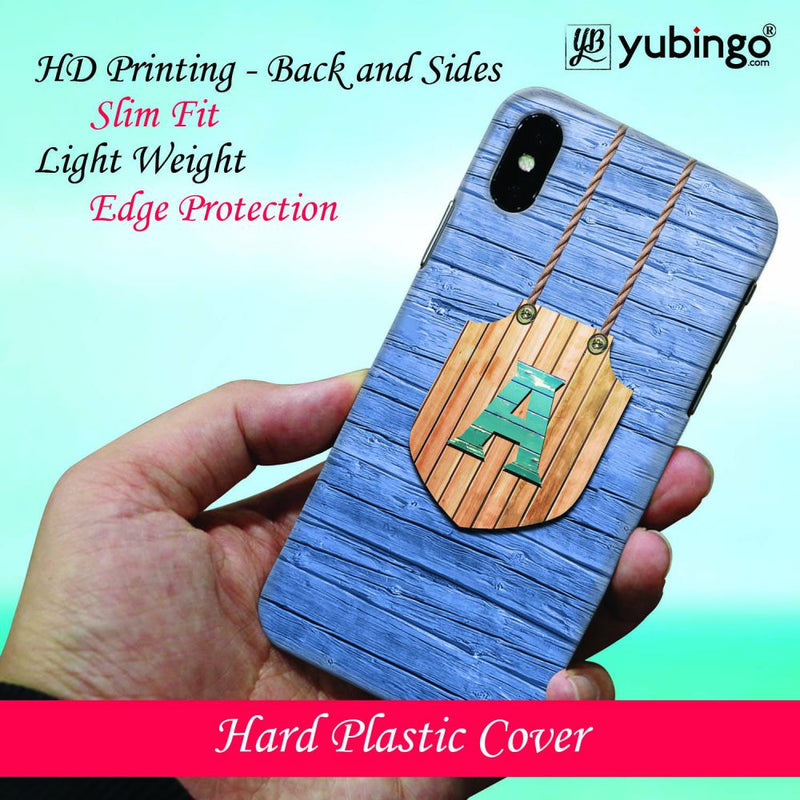 Customised Alphabet Back Cover for Oppo F9 Pro