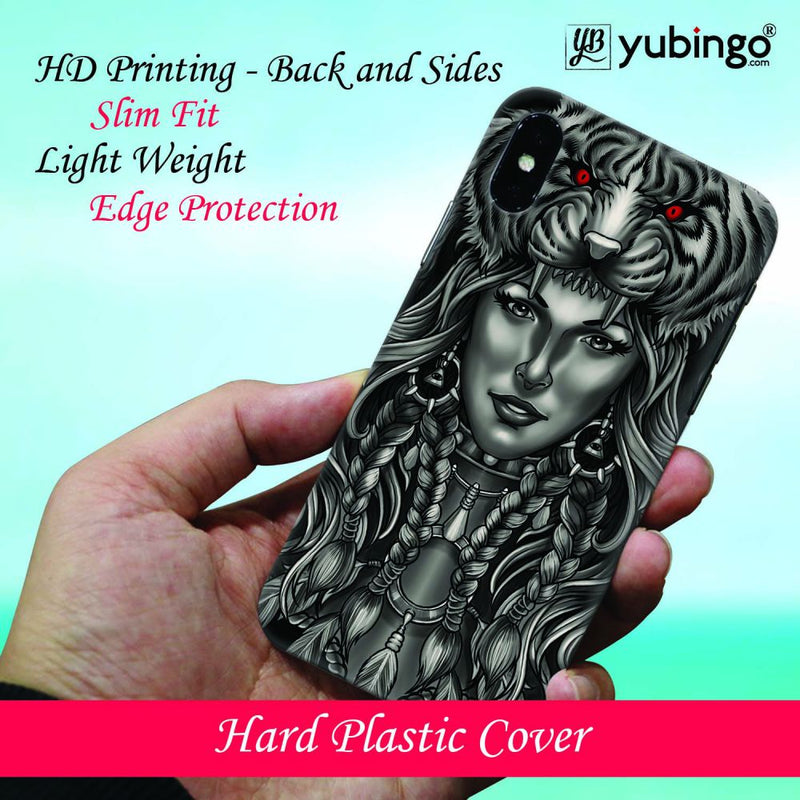 Charming Lady with Tiger Back Cover for Xiaomi Mi 8