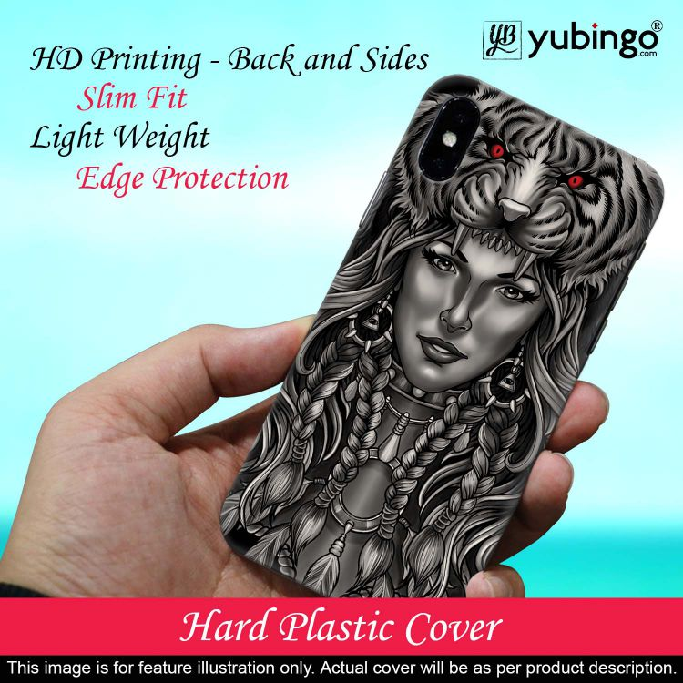 Charming Lady with Tiger Back Cover for Vivo S1 Pro