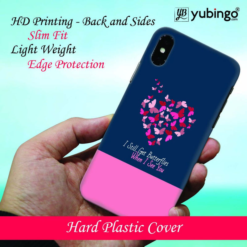 Butterflies on Seeing You Back Cover for Oppo A7
