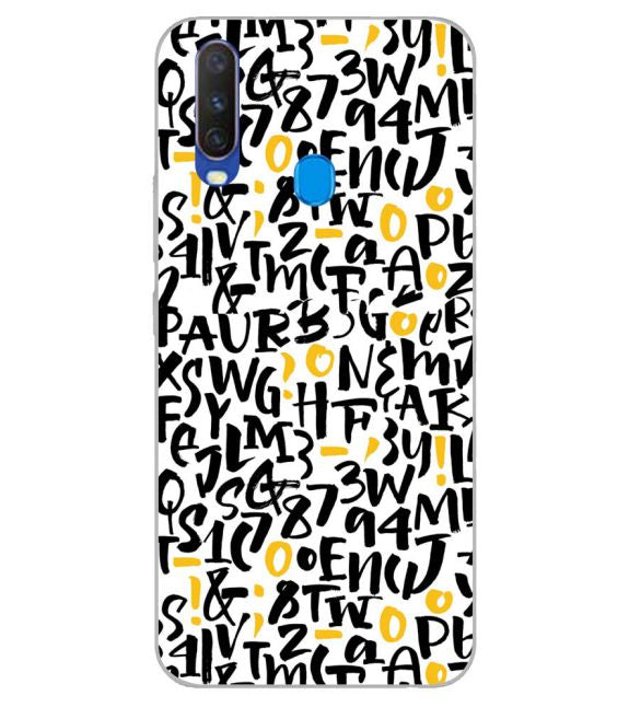 Alphabets And Numbers Back Cover for Samsung Galaxy A60