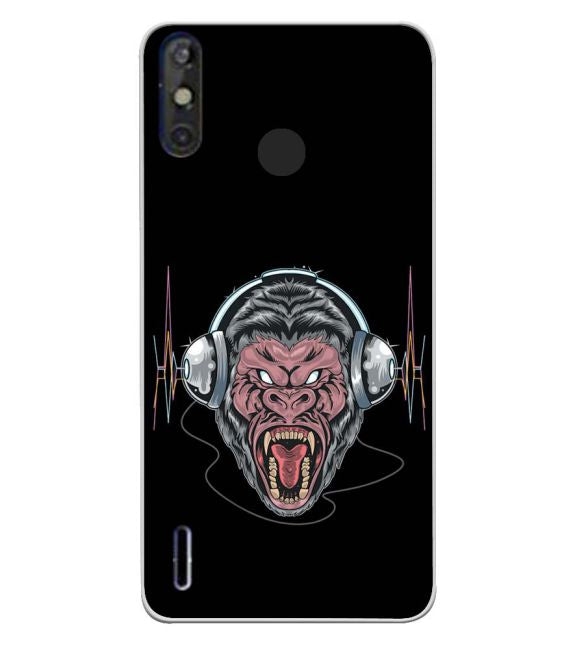 Angry Monkey Back Cover for Tecno Spark 4 Air