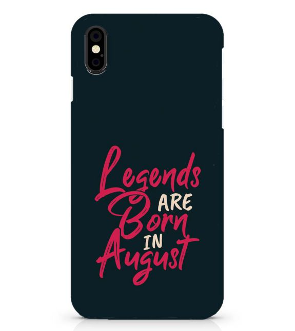August Legends Back Cover for Apple iPhone X