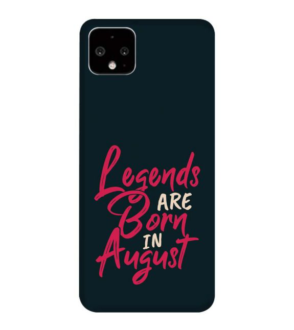 August Legends Back Cover for Google Pixel 4 XL