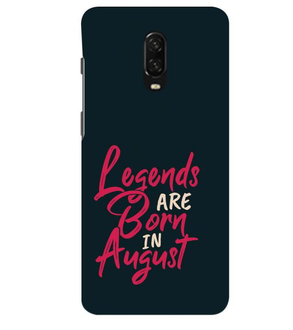 August Legends Back Cover for OnePlus 6T