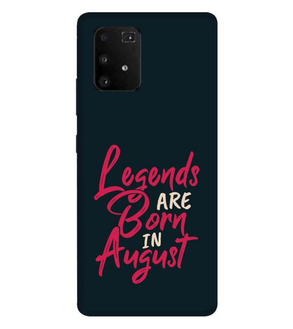 August Legends Back Cover for Samsung Galaxy A91