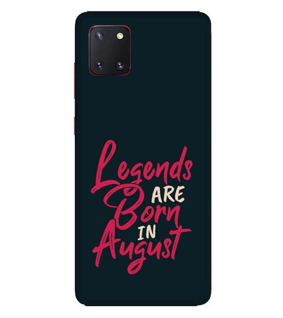 August Legends Back Cover for Samsung Galaxy Note10 Lite