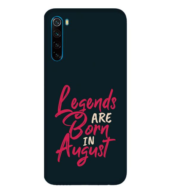 August Legends Back Cover for Xiaomi Redmi Note 8