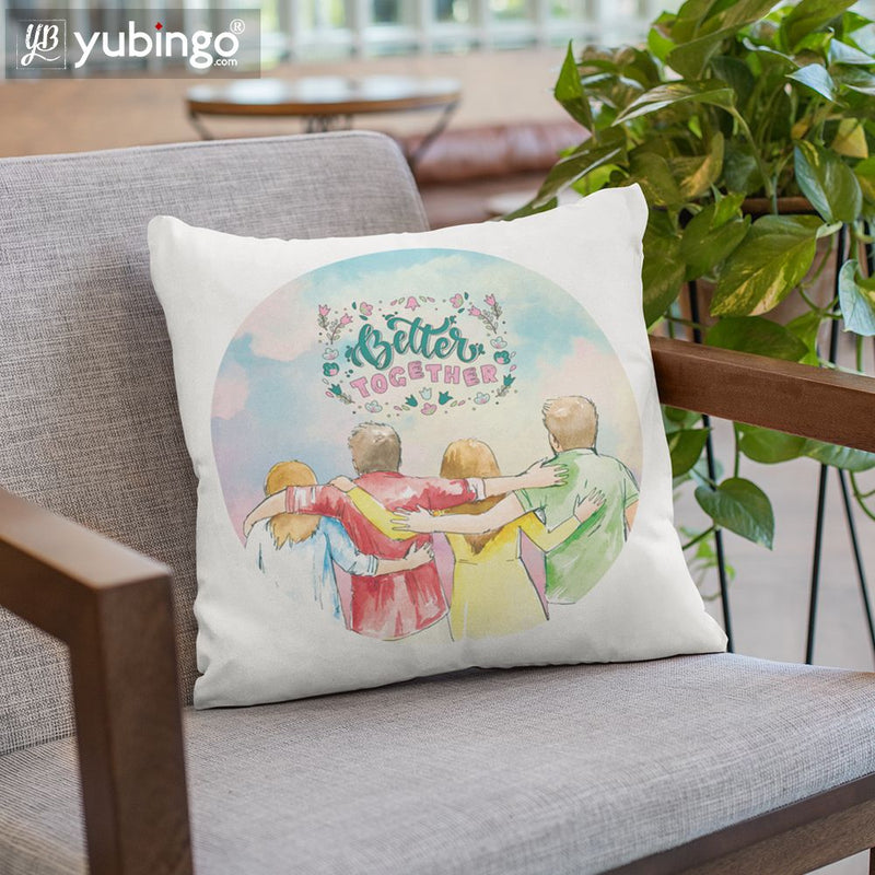 Better Together Cushion, Coffee Mug with Coaster and Keychain