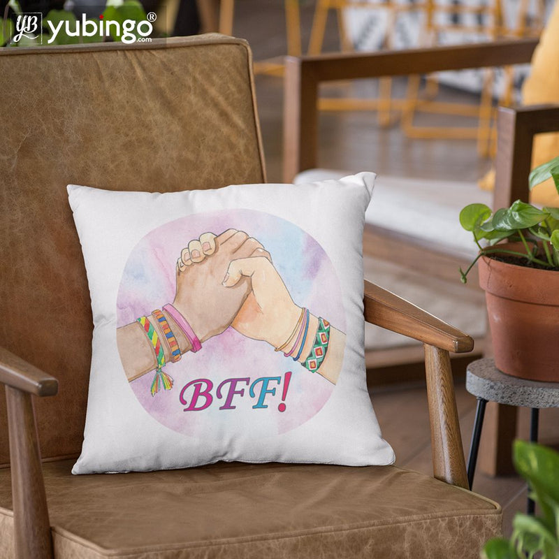 BFF Cushion, Coffee Mug with Coaster and Keychain