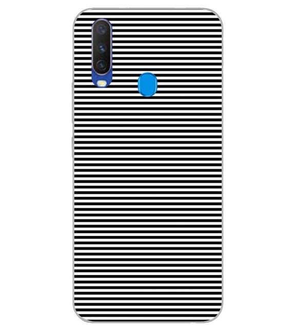 Black Stripes Back Cover for Samsung Galaxy A60