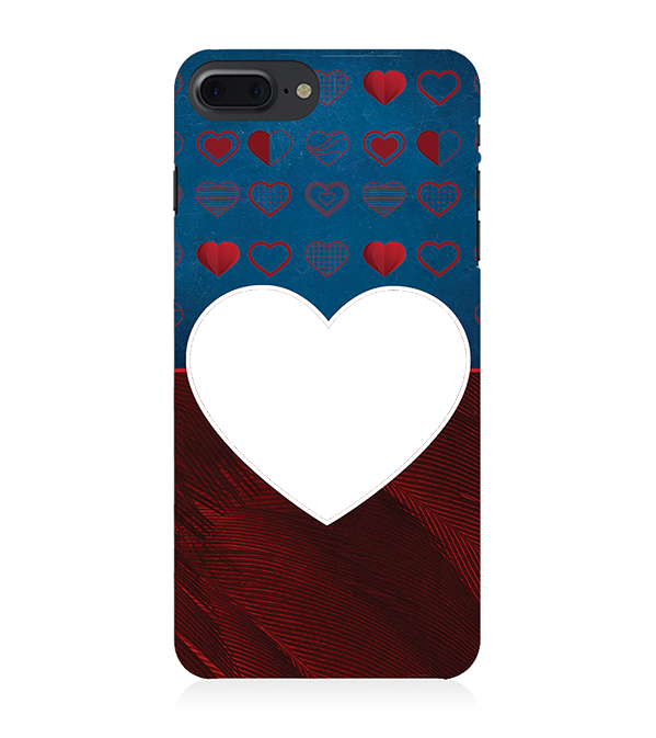 Hearts Photo Back Cover for Apple iPhone 8 Plus