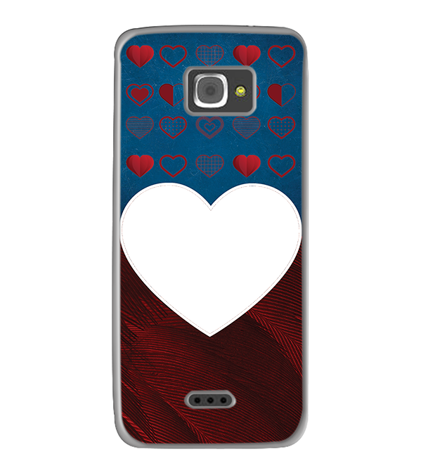 Hearts Photo Back Cover for InFocus M350
