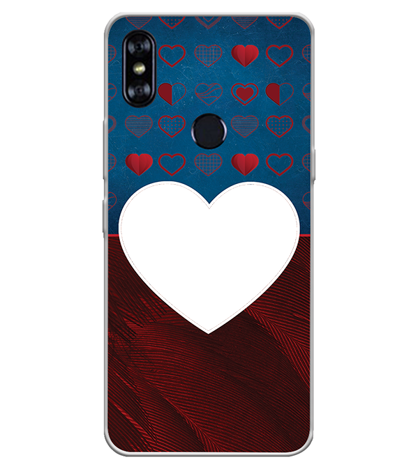 Hearts Photo Back Cover for Itel A62